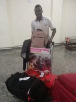 Emmanuel at Kigali Airport