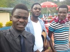 at Bukavu border Rusizi Rusaka with friends